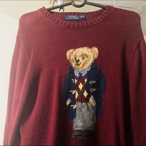 Men's Ralph Lauren polo bear knit sweater